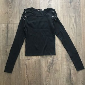 UO Lace Up Shoulder Sweater